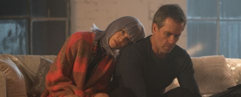 In 'Zone 414,' Matilda Lutz plays an empathetic android opposite Guy Pearce as a grizzled detective hired to find a missing girl.
