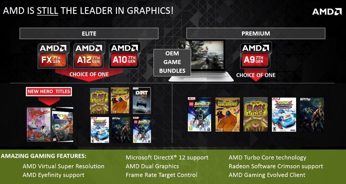 AMD Details Bristol Ridge And Stony Ridge A-Series APUs At