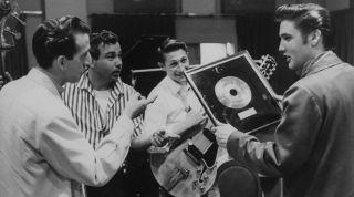 DJ Fontana with Elvis and band
