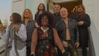 Phil Collen, second right, in the video