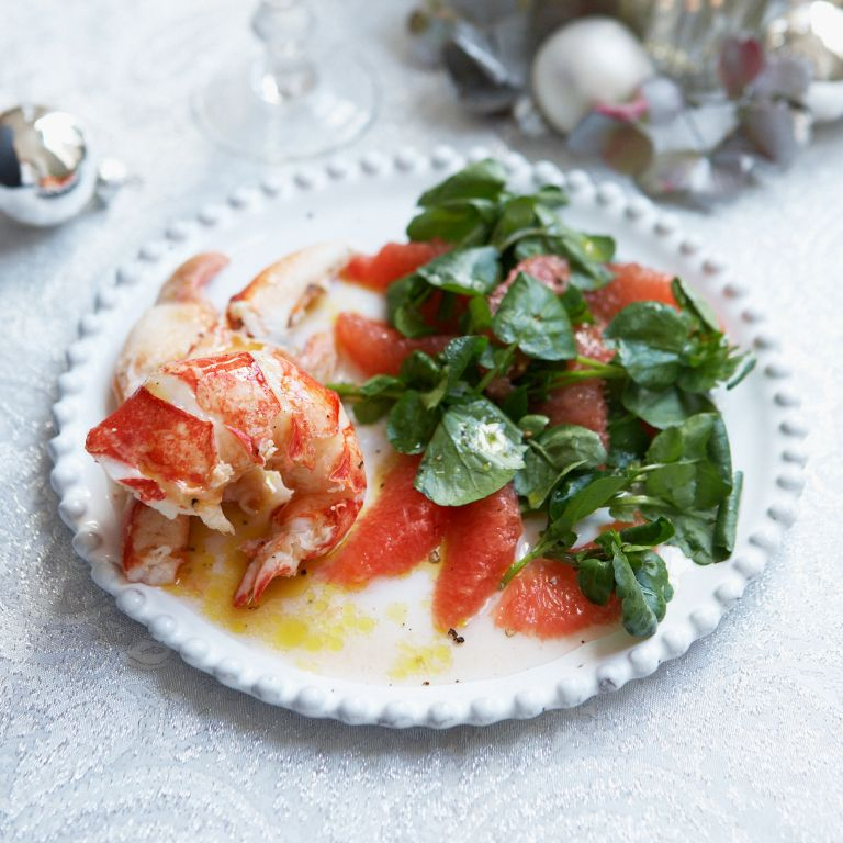 Lobster and ruby grapefruit recipe-seafood recipes-lobster recipe-recipe ideas-woman and home