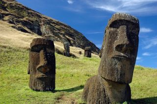 Easter Island is known for these iconic Moai statues, as well as mysteries surrounding the inhabitants of the island.