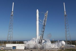 SpaceX Falcon 9 Rocket Static Fire Test