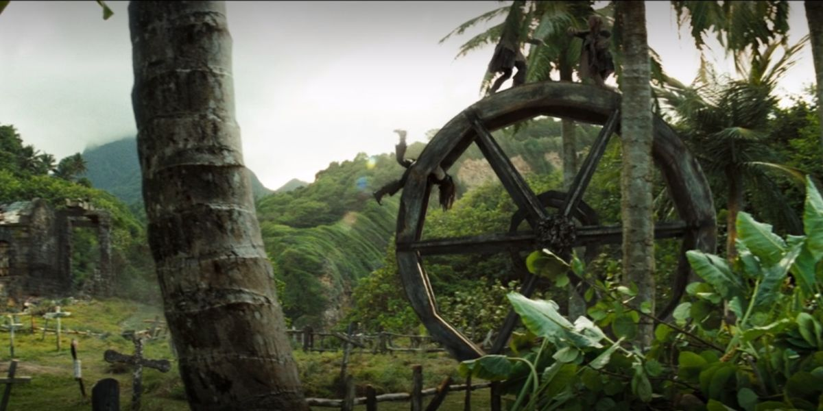 Pirates of the Caribbean: Dead Man's Chest wheel fight