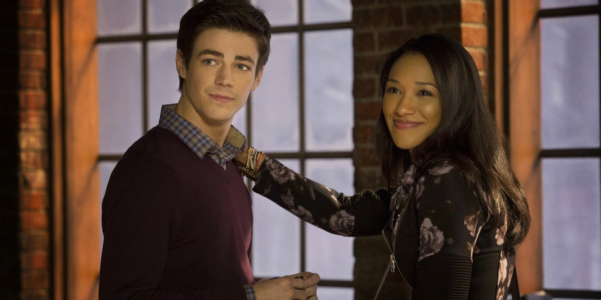 Grant Gustin and Candice Patton in The Flash TV show