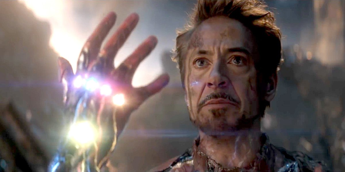 Robert Downey Jr. right before Tony Stark snap I am Iron Man Avengers: Endgame