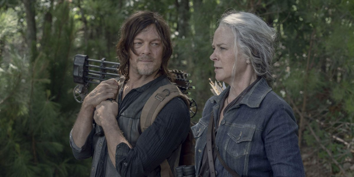 Daryl and Carol on The Walking Dead.