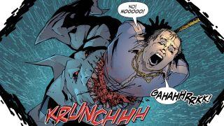 image of King Shark eating a guy