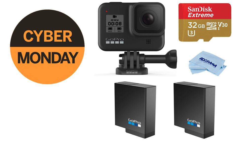 GoPro Hero8 Black + SD card + two batteries just $349.99 for Cyber Monday!