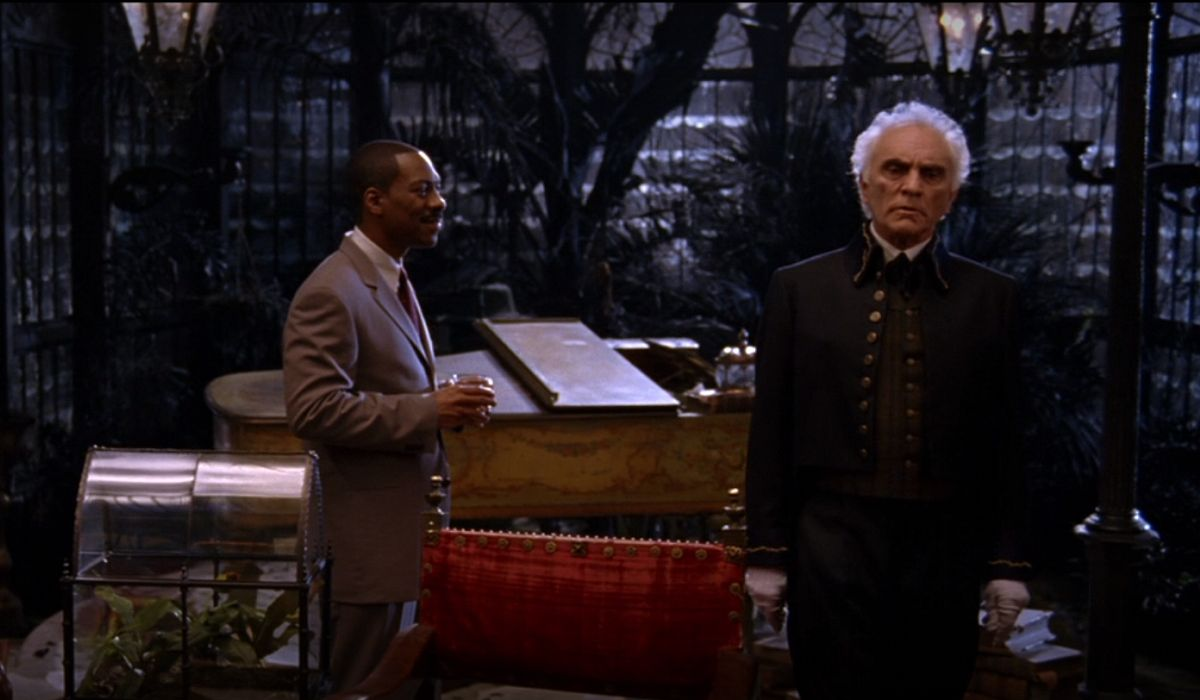 Terrance Stamp and Eddie Murphy in The Haunted Mansion
