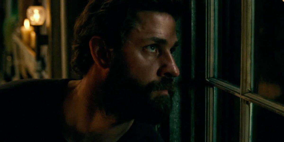 John Krasinski as Lee Abbott in A Quiet Place