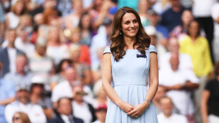 Duchess of Cambridge in a blue dress