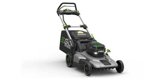An EGO LM2102SP lawnmower