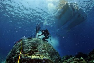 Coral reef coring off Australia
