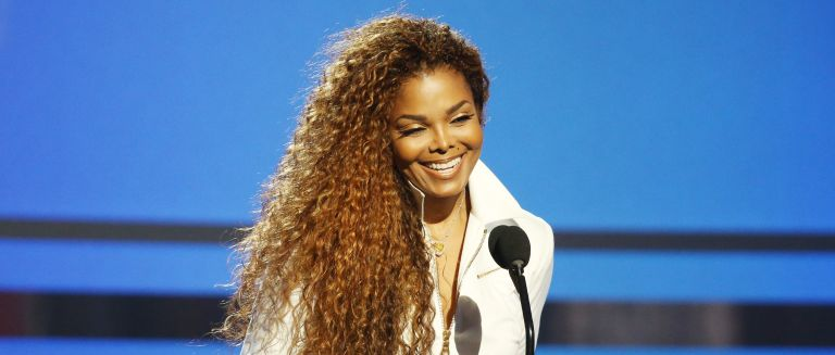 Janet Jackson speaks onstage during the 2015 BET Awards held at Microsoft Theater