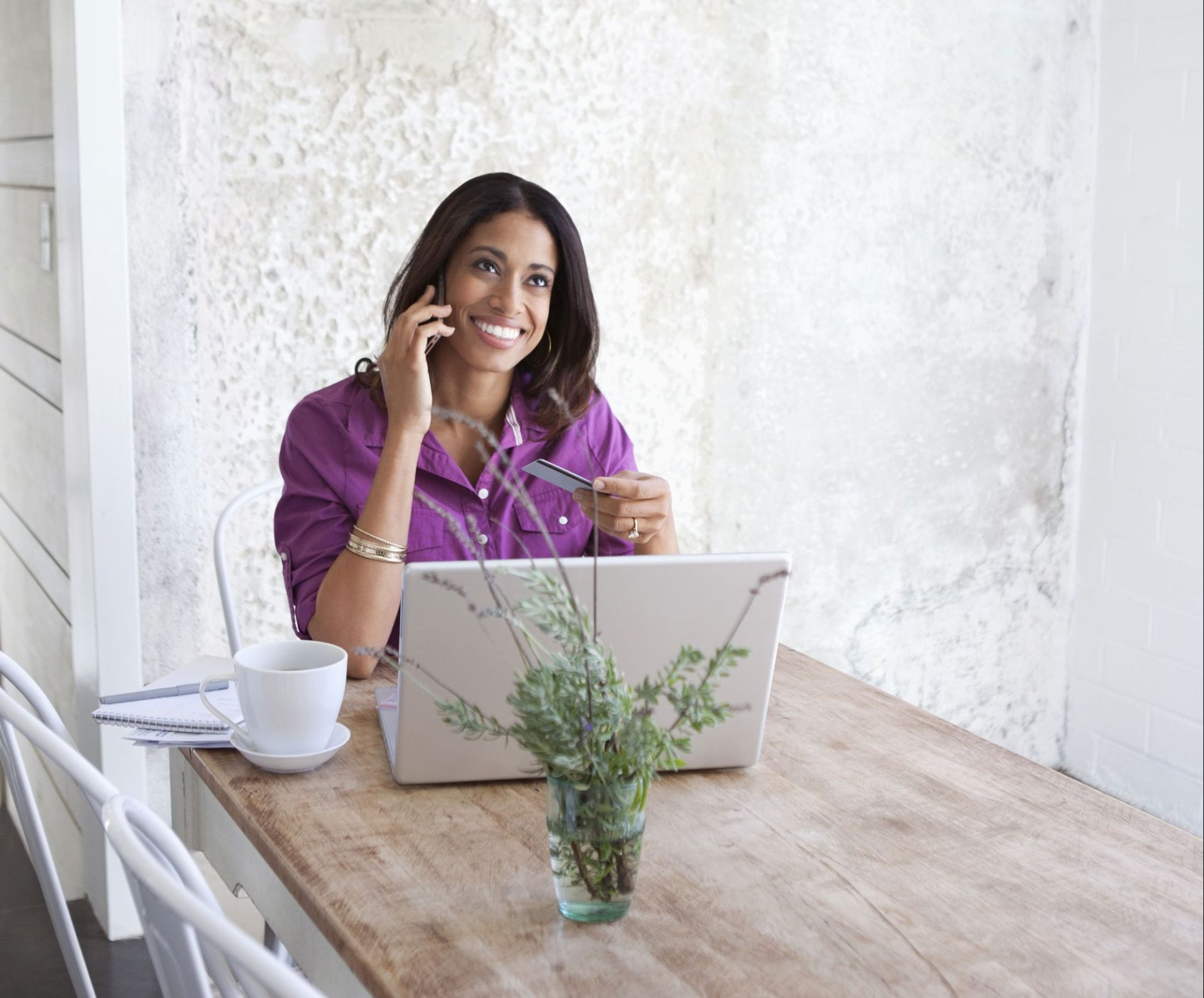 Photo of woman using computer