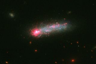 "Hubble Photo of 'Skyrocket Galaxy,"" Kiso 5639"