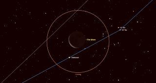 Aldebaran Encounters the Old Moon july 2018