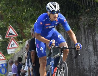 Davide Martinelli riding for Italy