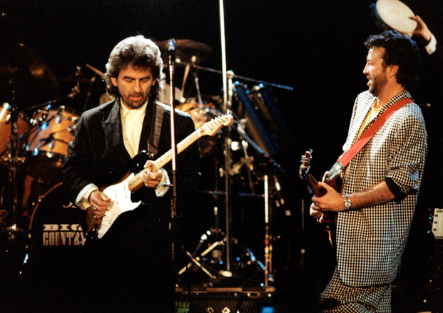 George Harrison, Eric Clapton and Ringo Starr Play The Beatles
