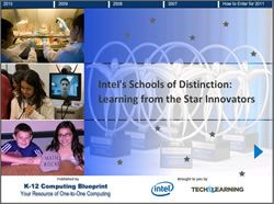Intel's Schools of Distinction: Learning from the Star Innovators