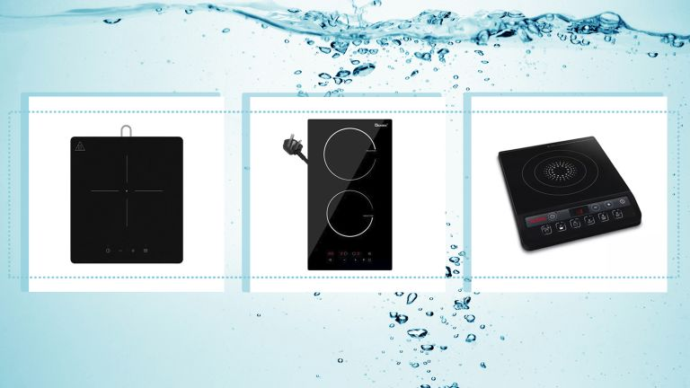 a collage image of a selection of our best portable induction hobs picks