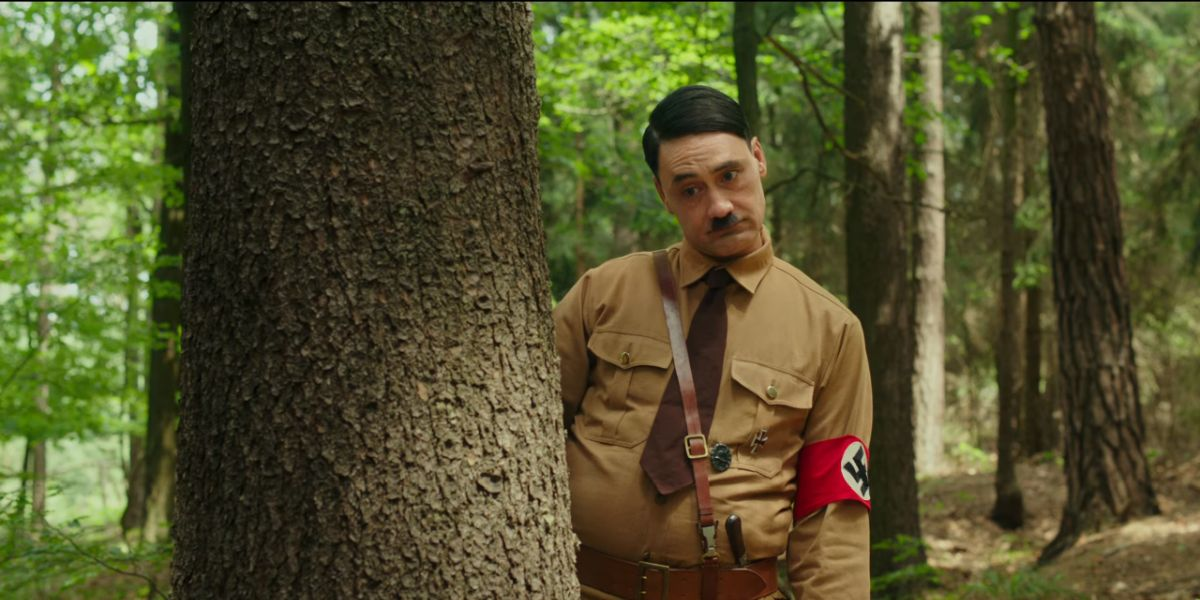 Taika Waititi as Hitler in JoJo Rabbit