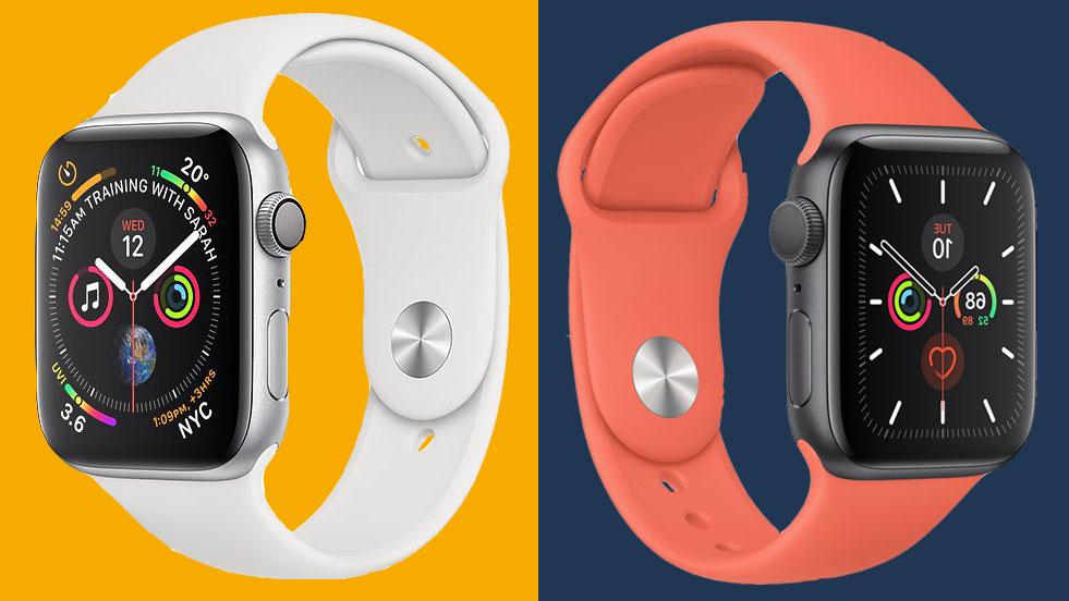 Babosa de mar Gracias Ocho  Apple Watch 5 vs Apple Watch 4: which Apple smartwatch is for you? |  TechRadar