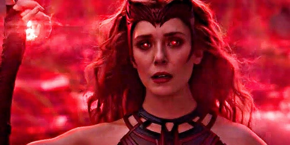 Wanda becoming the Scarlet Witch in WandaVision.