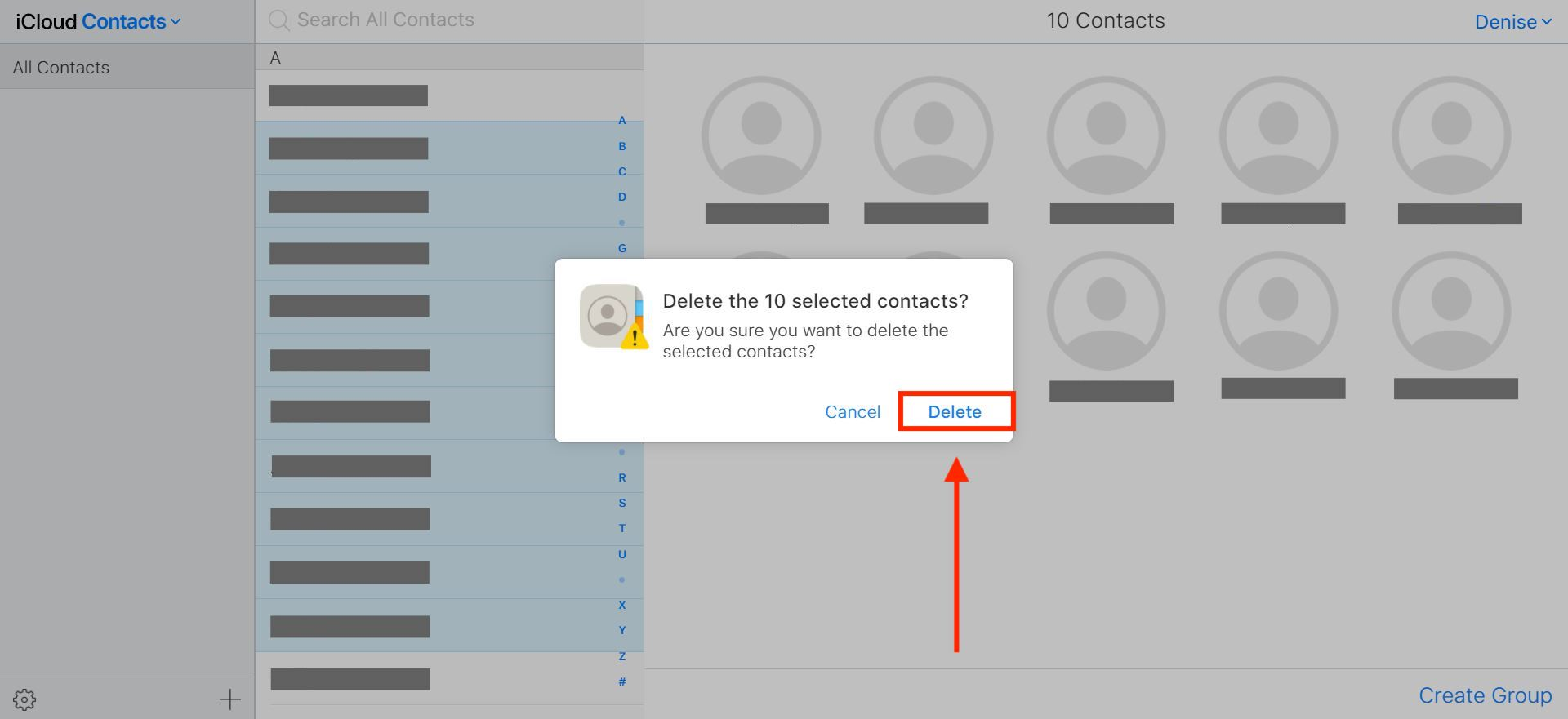 How to delete multiple contacts on iPhone at once
