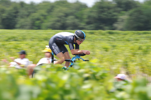 Geraint Thomas, stage 19 TT, Andy Jones at the Tour de France 2010