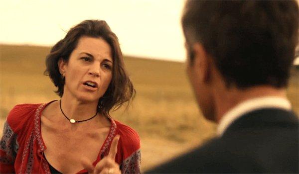 Kat yells at Grant MacLaren in Travelers Season 2 finale