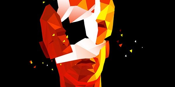 A polygonal face is shot apart in Superhot.