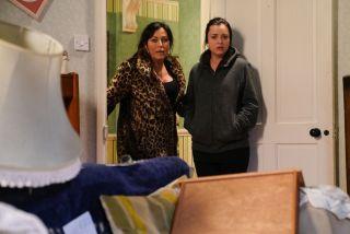 Kat Moon and Whitney Dean in EastEnders