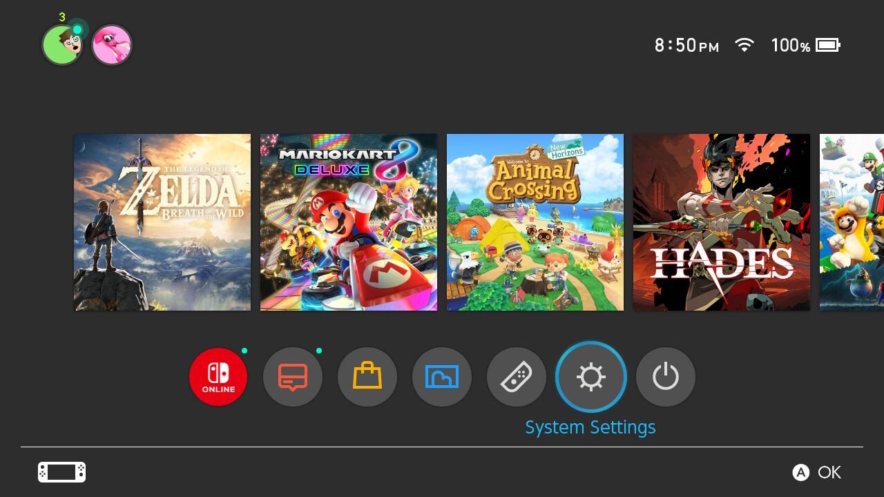 Nintendo Switch Bluetooth audio settings