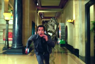 Ben Stiller is pursued by a dinosaur skeleton come to life