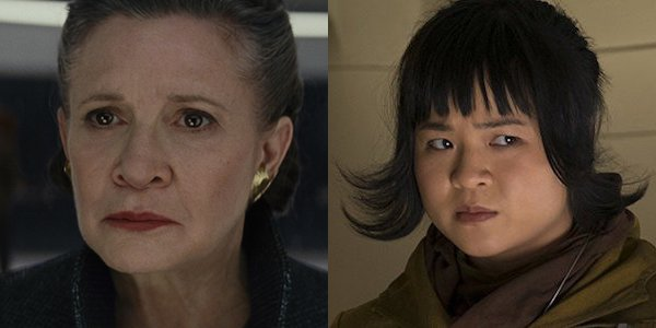 Carrie Fisher and Kelly Marie Tran