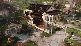 """A screenshot of just one of the hyper-detailed environments coming """"soon"""" in Jagged Alliance 3"""