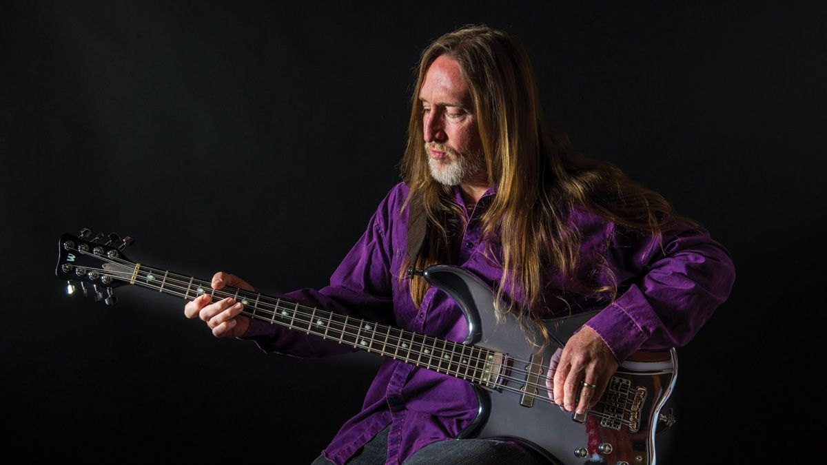 """Scott Reeder: """"I play left-handed but the bass is strung right-handed, so I can't just walk into a store and try a bass. Not one!"""""""