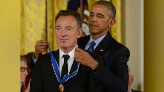 President Obama presents Bruce Springsteen with the medal
