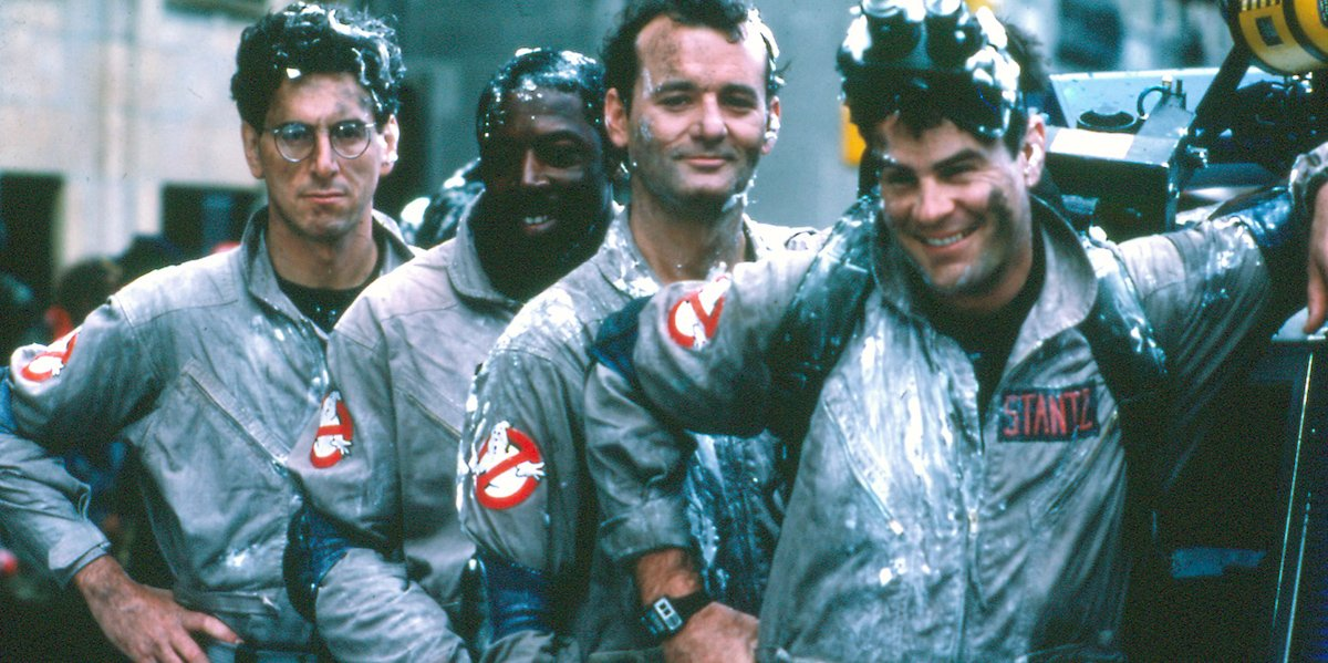 Harold Ramis, Ernie Hudson, Bill Murray, Dan Aykroyd in Ghostbusters