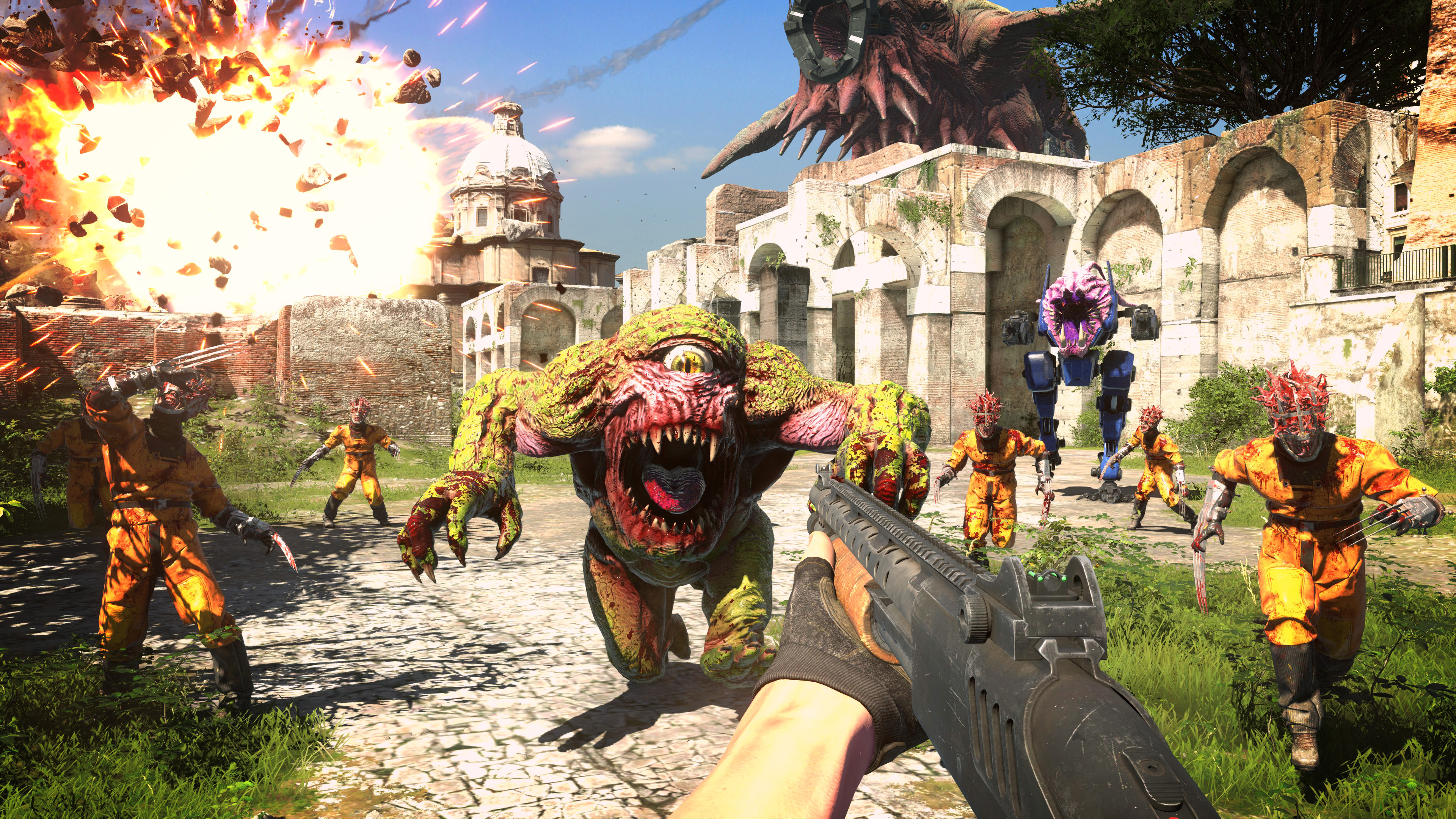 Serious Sam 4 dual wields official modding and Steam Workshop support