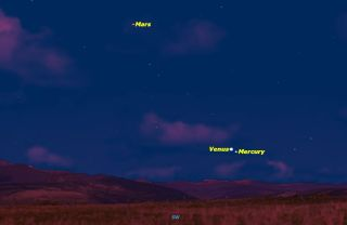 Mercury Comes Close to Venus in January 2015