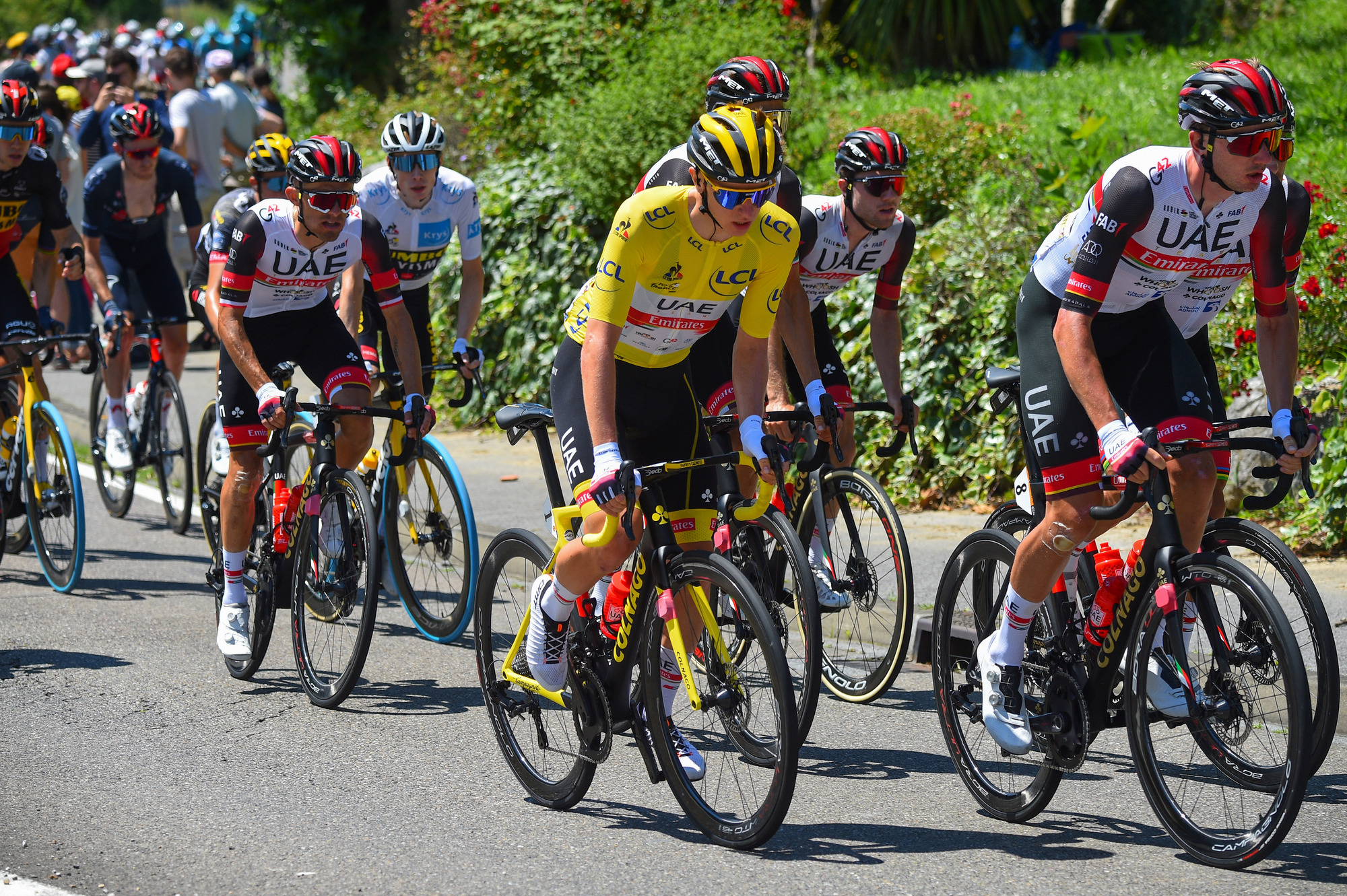Tour de France 2021 108th Edition 19th stage Mourenx Libourne 207 km 16072021 Tadej Pogacar SLO UAE Team Emirates photo Dario BelingheriBettiniPhoto2021