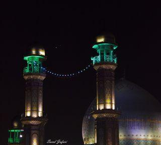 Venus and Jupiter Encounter at Rasulullah Mosque
