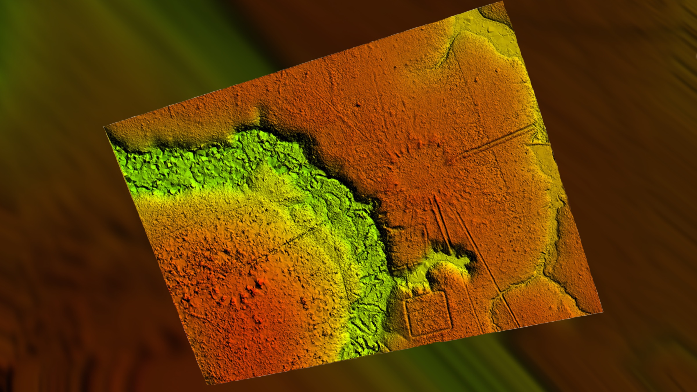 Lidar technology revealed more than 35 long-abandoned villages that look like the rays of a sun.
