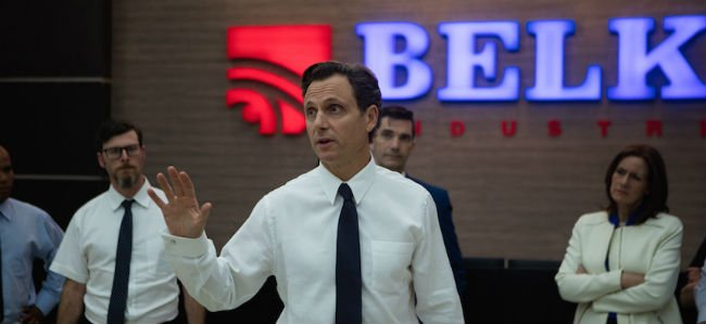The Belko Experiment Tony Goldwyn Calms his co-workers down