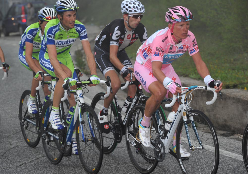 Alexandre Vinokourov and Ivan Basso, Giro d'Italia 2010, stage eight