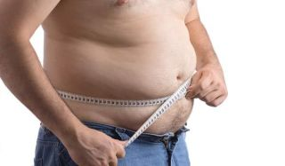 fat man, measuring belly, obese, overweight