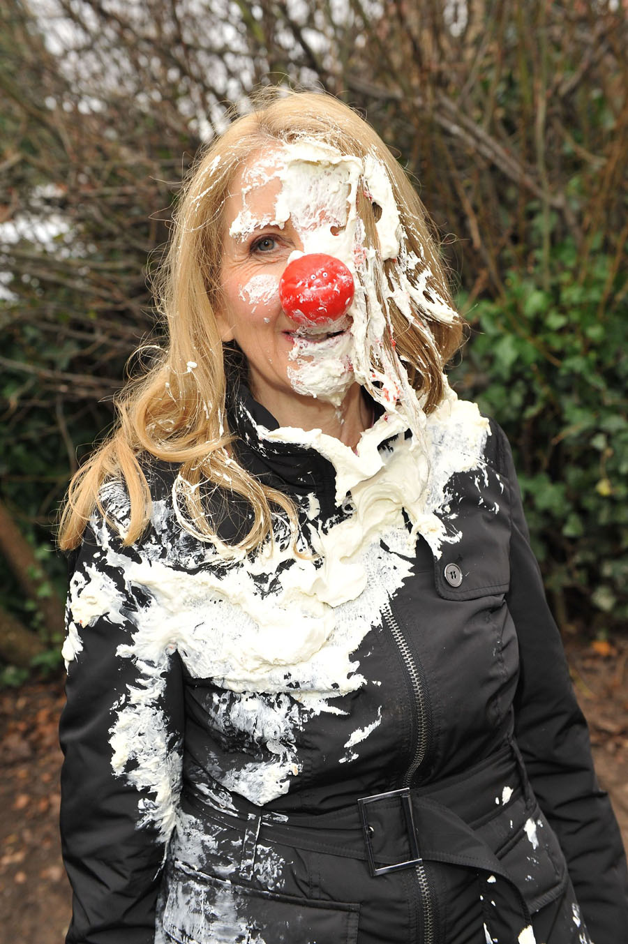 Gillian McKeith gets cream-caked for Comic Relief